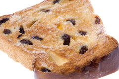 Toasted Raisin Bread Slice Isolated Royalty Free Stock Images