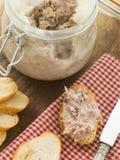 toasted rilette свинины утки багета Стоковые Изображения