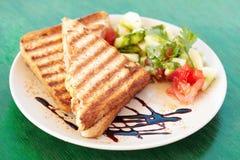 Toasted sandwich Stock Photos