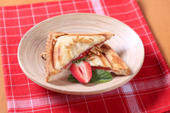Toasted sandwich Stock Photo