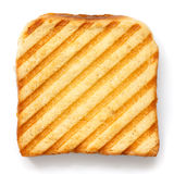 Toasted sandwich with grill marks from above Stock Images