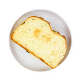 Toasted sandwich on plate Royalty Free Stock Images