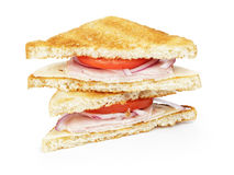 Free Toasted Sandwich With Ham, Cheese And Vegetables Stock Photography - 34301092