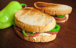 Toasted sandwiches Stock Image
