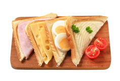 Toasted sandwiches Stock Photo