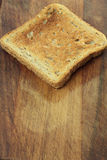 Toasted slice of bread. royalty free stock photos