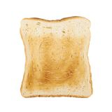 Toasted slice of bread isolated Stock Photos