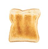 Toasted slice of bread isolated Royalty Free Stock Image