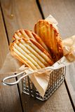 Toasted slices of bread with a golden crust Royalty Free Stock Photo
