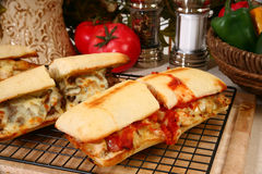 Toasted Submarine Sandwich Stock Photography