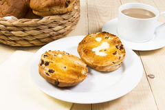 Toasted tea cakes royalty free stock image