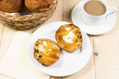 Toasted tea cakes Royalty Free Stock Photos