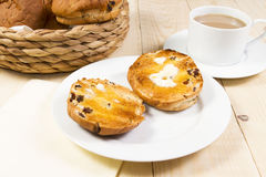 Toasted tea cakes stock images