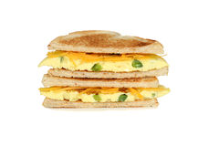 Toasted western sandwich with cheese Stock Images
