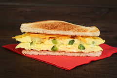 Toasted western sandwich on red napkin Stock Images