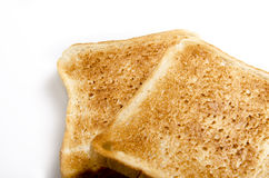 Toasted white bread. On white Stock Photography