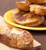 Toasted white bread Stock Images