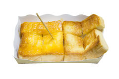 Toasted white bread with orange marmalade Stock Photography