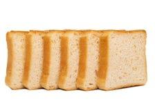Toasten Sie das Weizenbrot geschnitten lokalisiert auf weißem Hintergrund Lizenzfreie Stockbilder