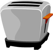 Toaster. Clipart  drawing line art Stock Images