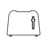 Toaster black color icon . Royalty Free Stock Photo