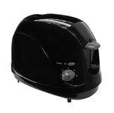 Toaster. Black toaster isolated on a white background Royalty Free Stock Image