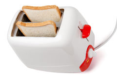 Toaster with bread inside Royalty Free Stock Photos