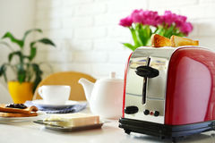 Toaster with bread Stock Photography