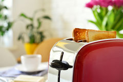 Toaster with bread Royalty Free Stock Photography