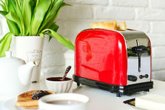 Toaster with bread Stock Image