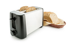 Toaster with bread slices Stock Images