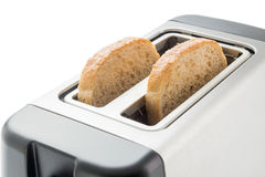 Toaster with bread slices Royalty Free Stock Photos