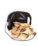 Toaster with bread slices. Royalty Free Stock Image