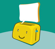 Toaster color doodle, speech bubble Royalty Free Stock Images