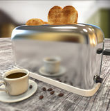 Toaster with cup Stock Photos