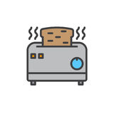 Toaster filled outline icon Royalty Free Stock Photo