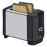 Toaster. Hand drawing of a electric toaster Stock Photography