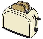 Toaster. Hand drawing of a electric toaster Royalty Free Stock Photos