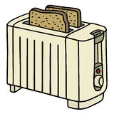 Toaster. Hand drawing of a electric toaster Stock Photos