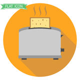 Toaster with hot toast Stock Photos