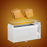 Toaster and hot toast Royalty Free Stock Photos