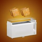 Toaster and hot toast Royalty Free Stock Photos