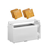 Toaster and hot toast Stock Photography