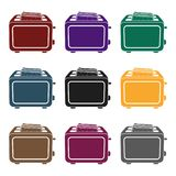 Toaster icon in black style isolated on white background. Household appliance symbol stock vector illustration. Royalty Free Stock Photography