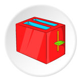 Toaster icon, cartoon style Royalty Free Stock Images