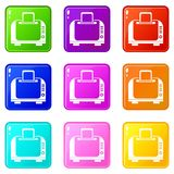Toaster icons 9 set Stock Images
