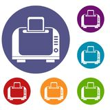 Toaster icons set Royalty Free Stock Images