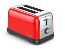 Toaster. Kitchen appliance, equipment on white. stock illustration