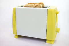 Toaster mit Toast Stockbild