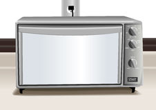 Toaster oven illustration Royalty Free Stock Image